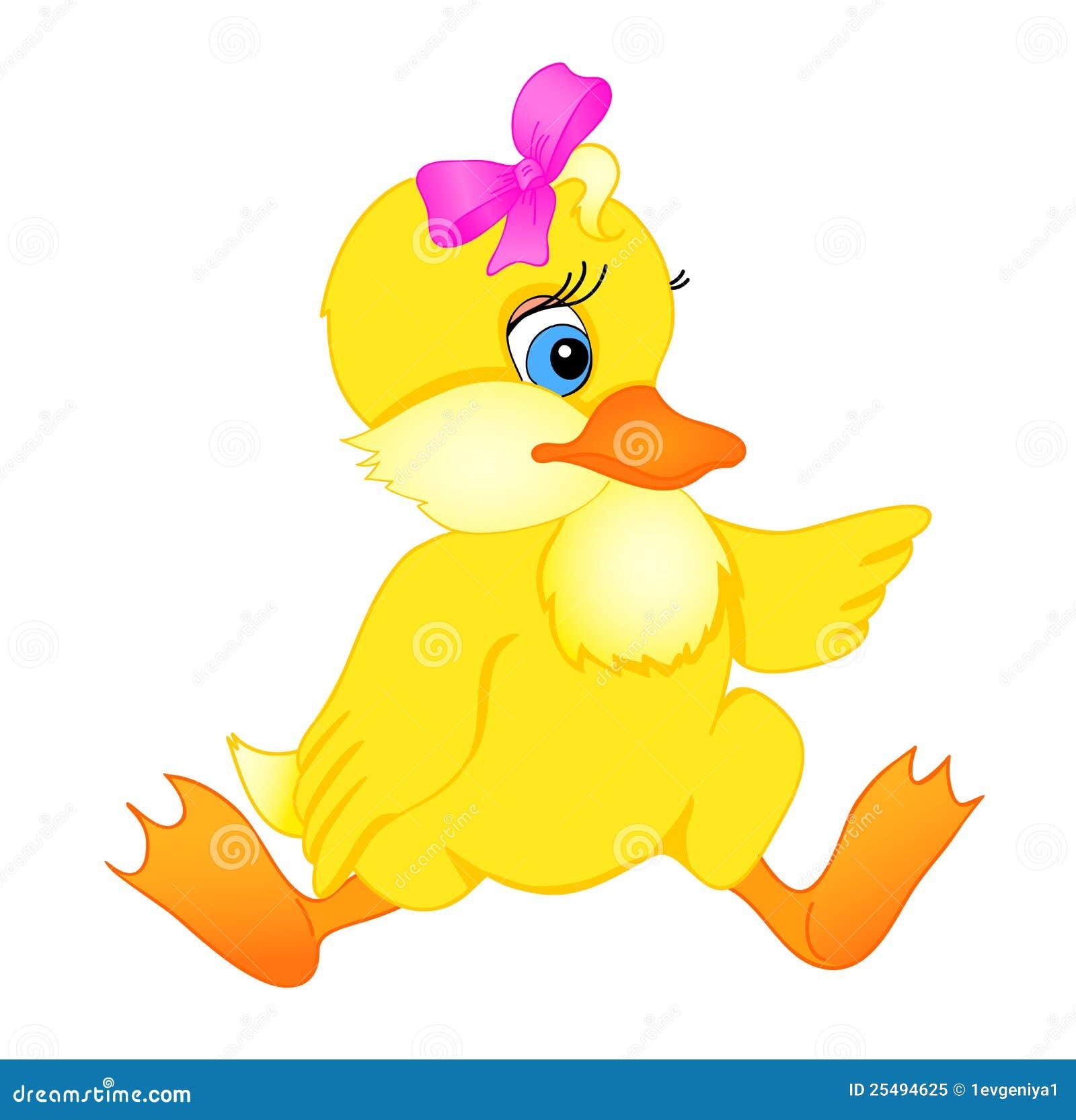 Little duck cartoon stock vector. Illustration of life ...