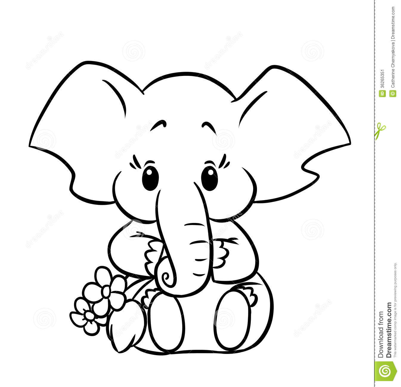 Little Elephant Stock Image Image 36265351