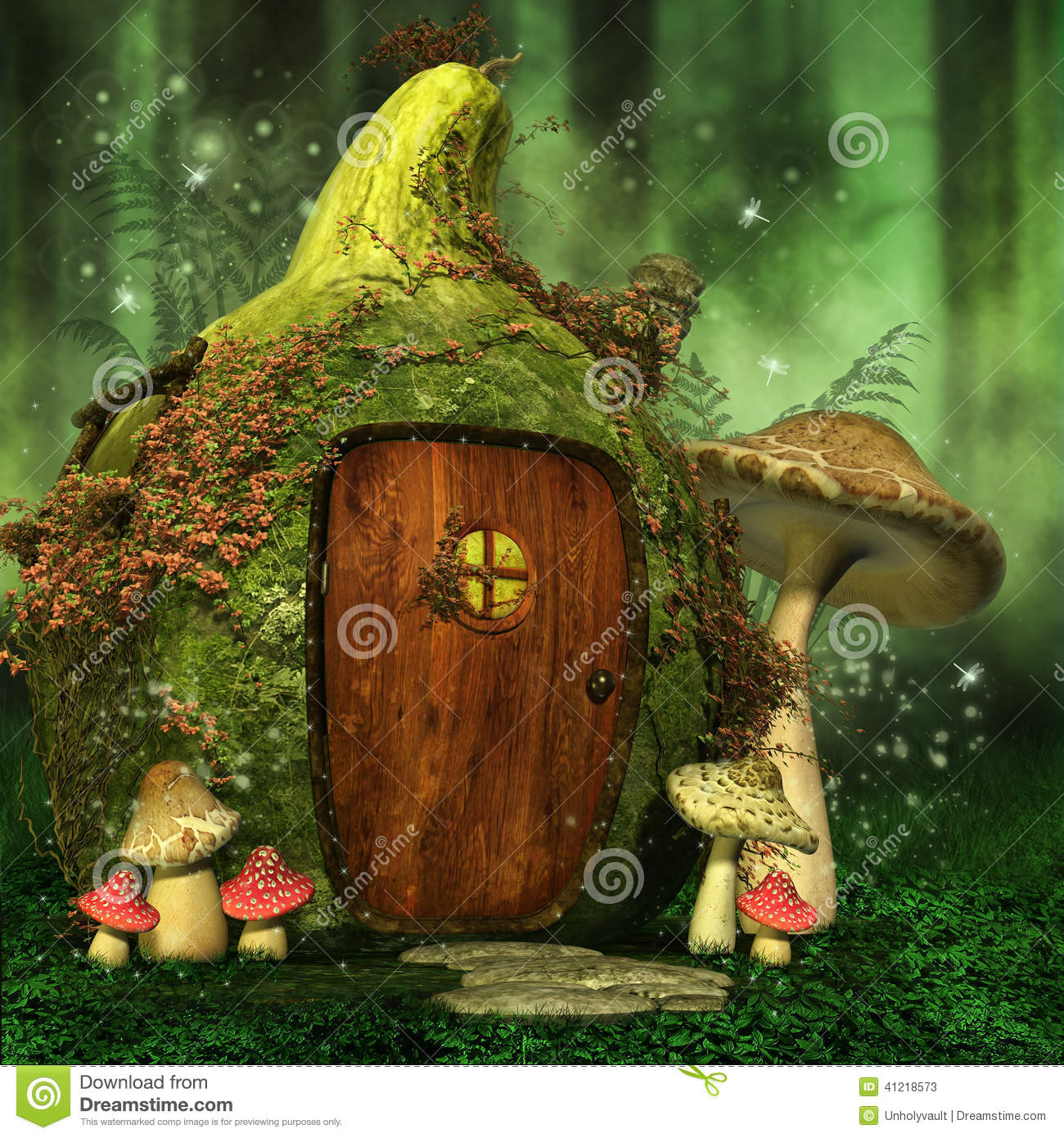 Desert Home Plans Little Fairy House With Mushrooms