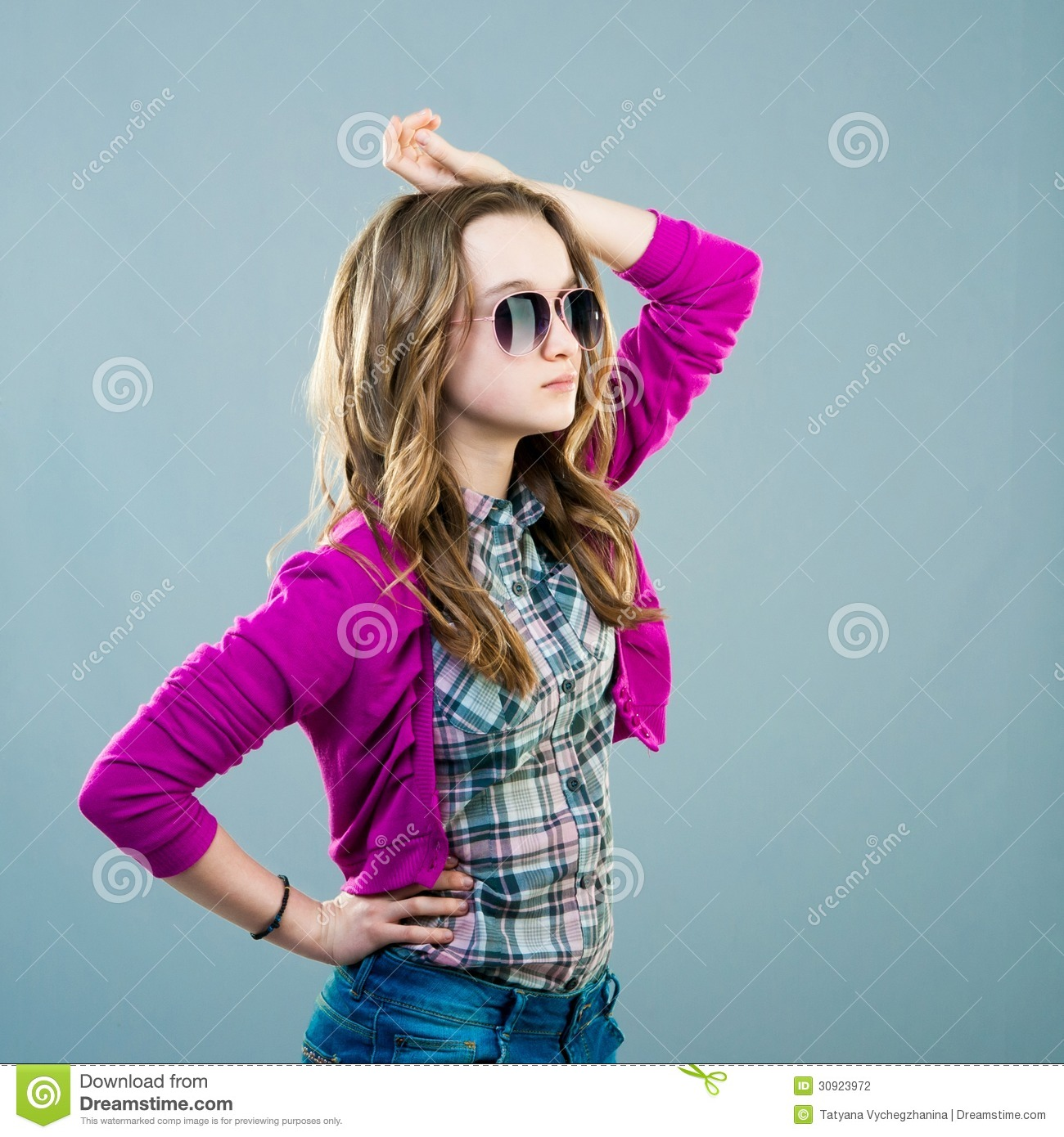 Little fashion model in sunglasses stock photography image 30923972