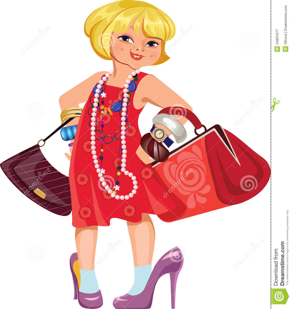 Little fashionista stock vector. Illustration of adorable ...