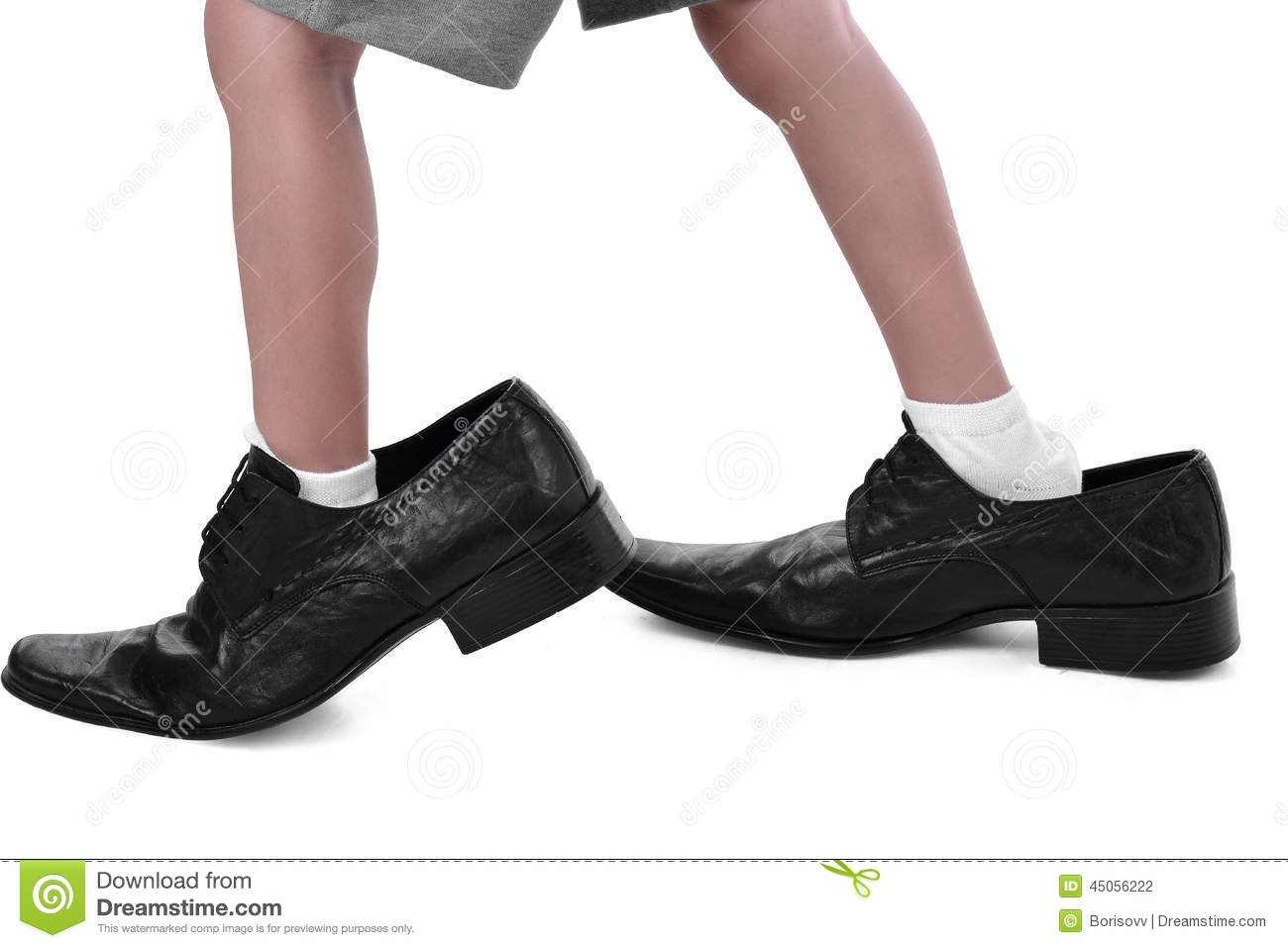in a big shoes stock photo image of crop