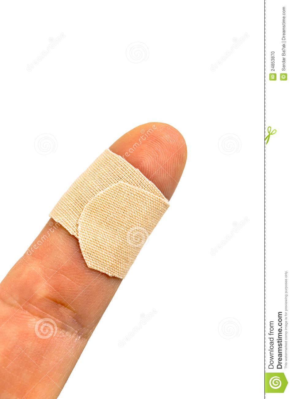 Little Finger With Band-aid Stock Photo - Image: 24853870