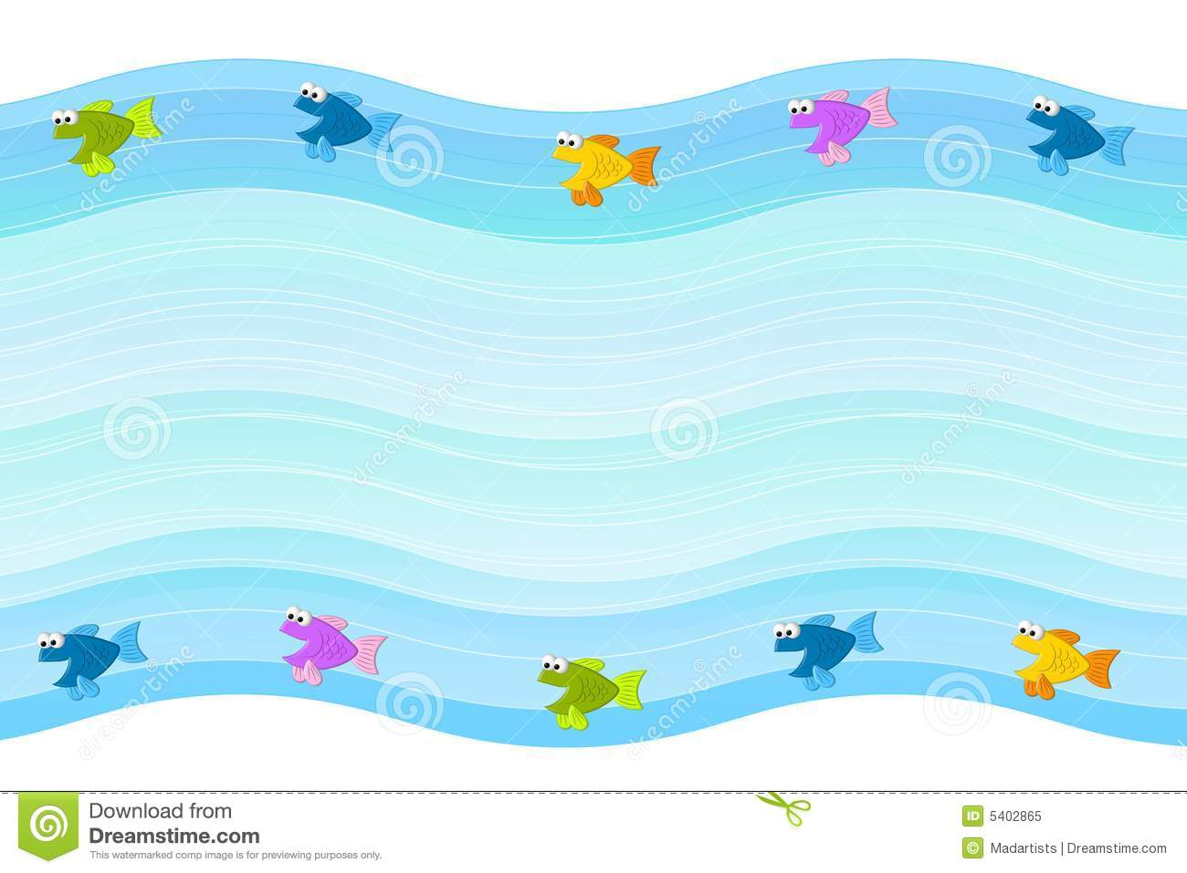 little fish border background stock illustration illustration of rh dreamstime com Large Fish Clip Art Border Fish Clip Art Borders and Corners