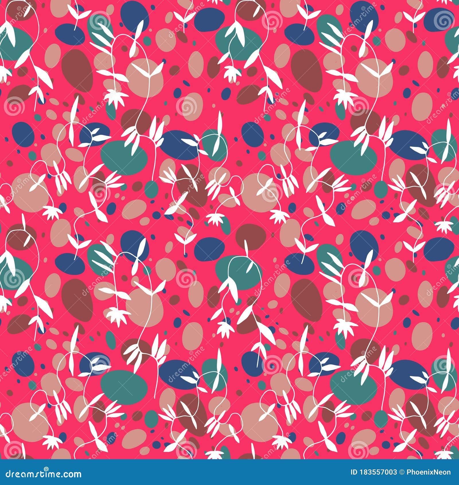 Little Flower Seamless Pattern In Vintage Scandinavian Minimalism Aesthetic Retro Background Stock Vector Illustration Of Blot Memphis 183557003