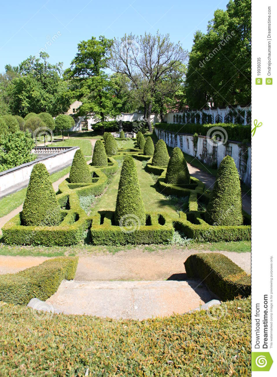Little french style garden royalty free stock photo image 19936035 - French style gardens ...