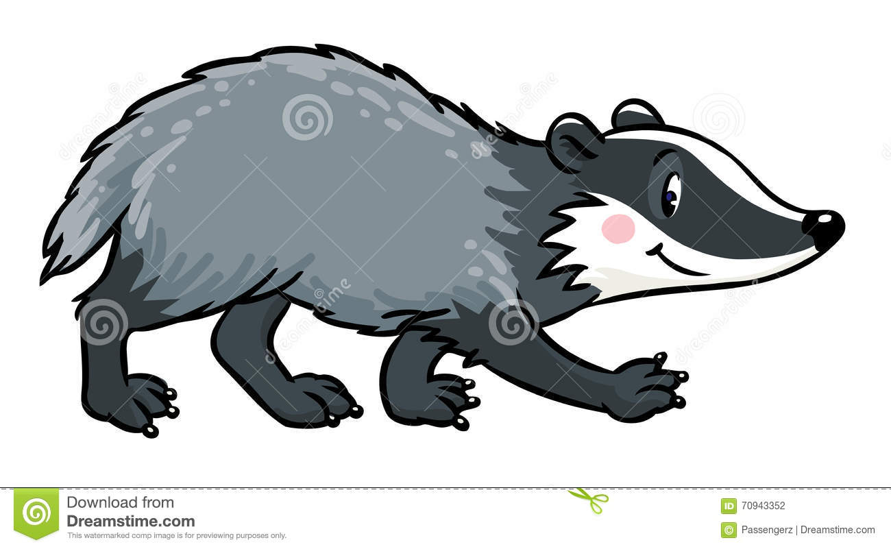 little funny badger children vector illustration stock badger clip art free badge clipart with trees