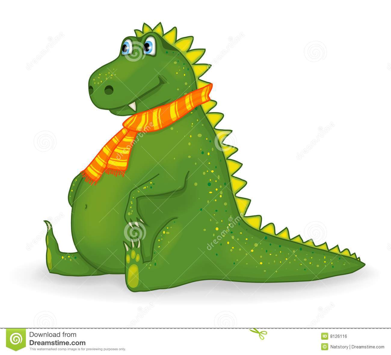 Royalty Free Stock Image Little Funny Dragon