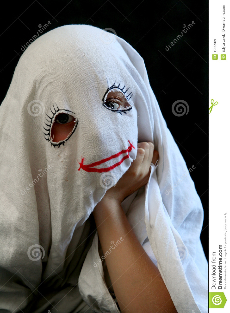 Little, Funny Ghost Royalty Free Stock Images - Image: 1235909