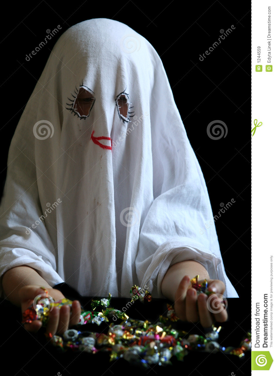 Little, Funny Ghost Royalty Free Stock Images - Image: 1244559