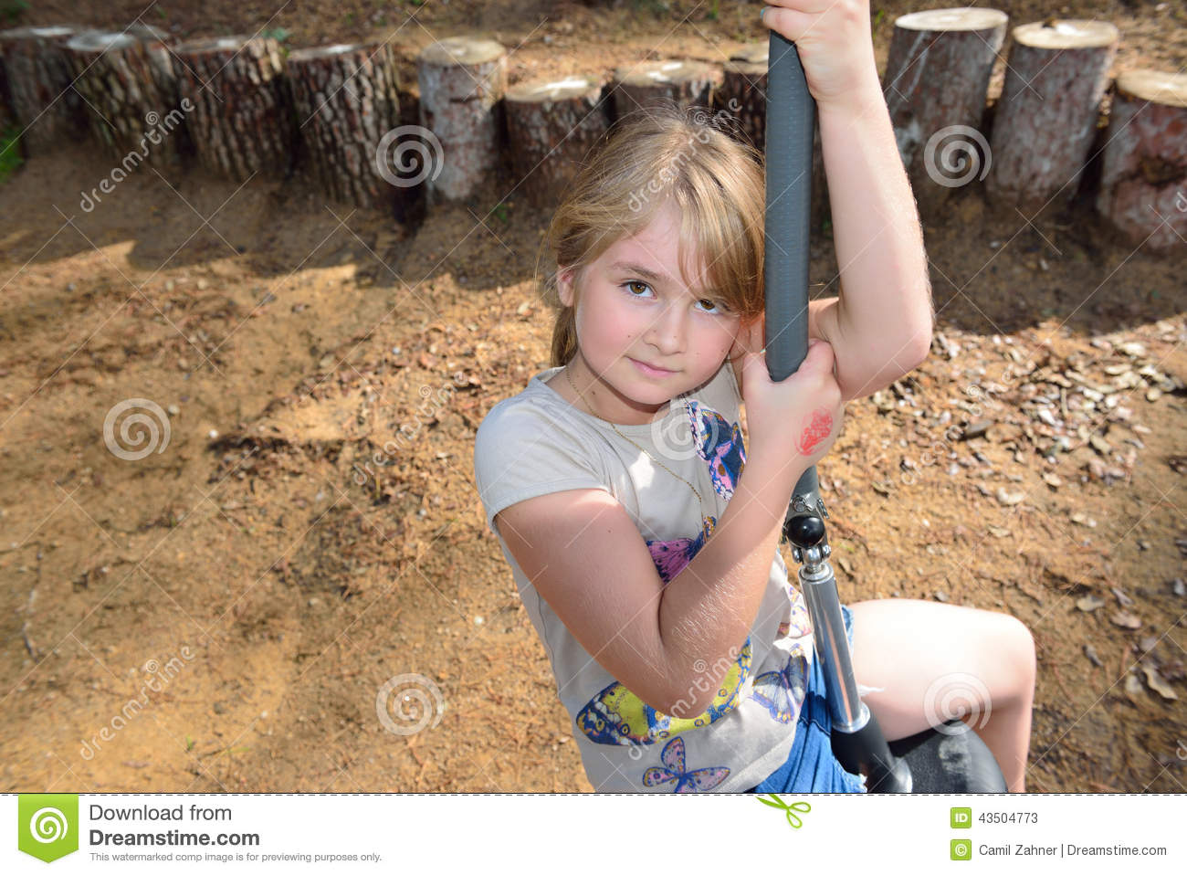 Little Girl In An Adventure Park Stock Photo - Image: 43504773