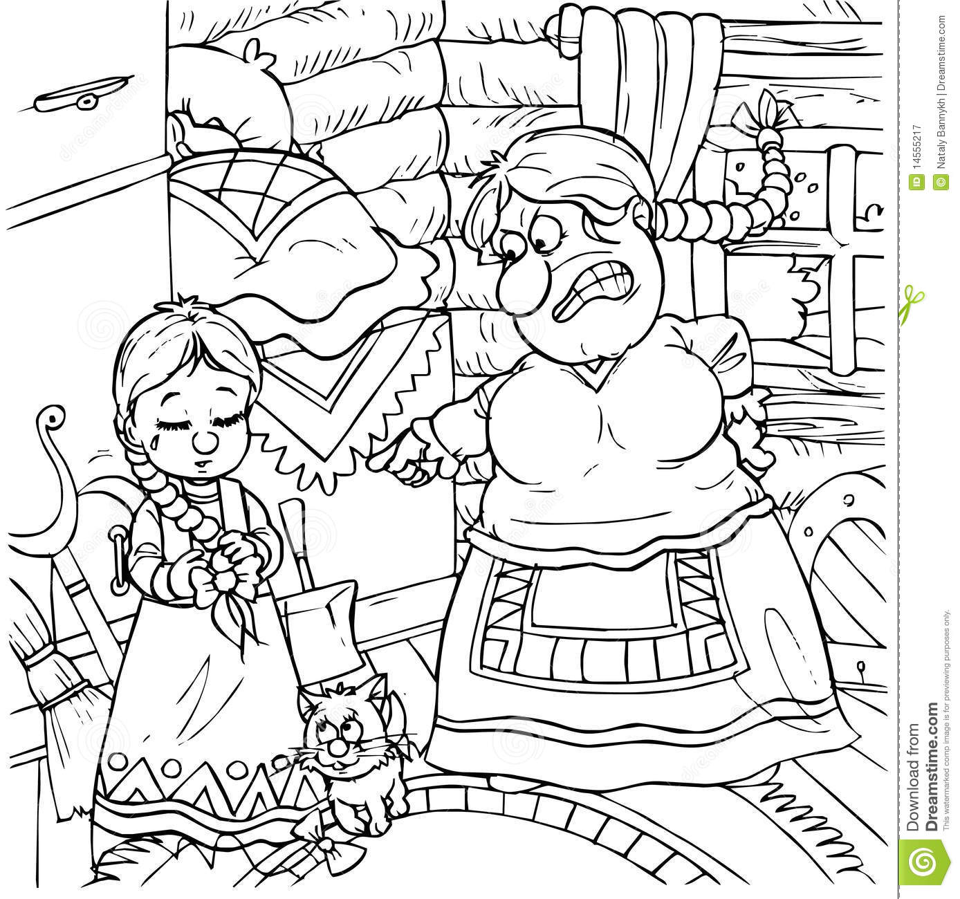Stepmother cartoons illustrations vector stock images for Evil stepmother coloring pages