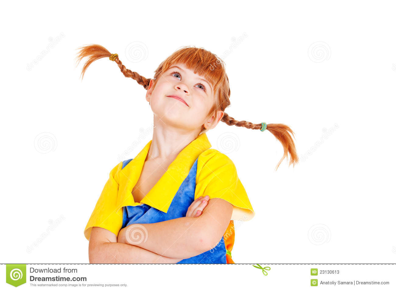 Little Girl With Arms Crossed Stock Photos - Image: 23130613