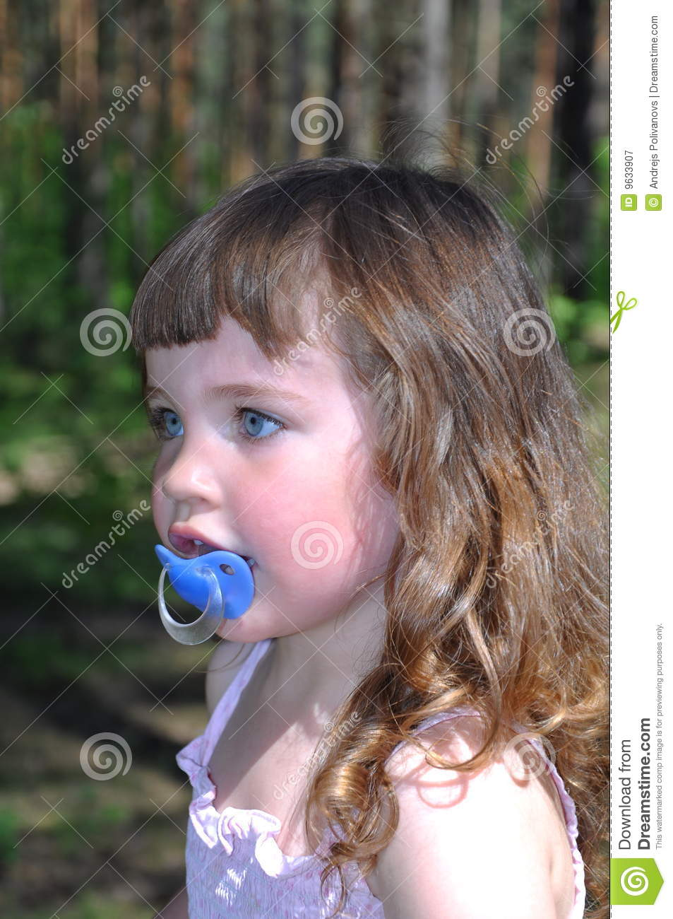 Little Girl With Baby S Dummy Stock Image Image Of