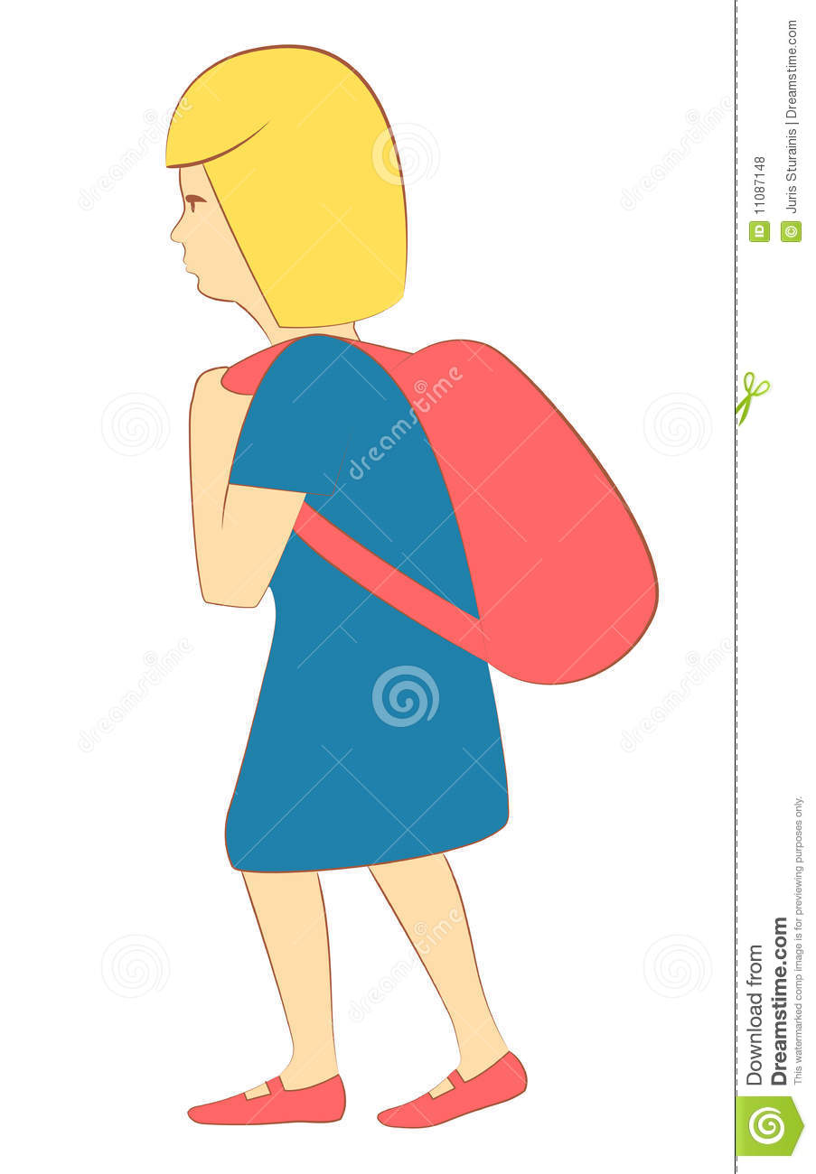 Little Girl With Backpack Royalty Free Stock Photos ...