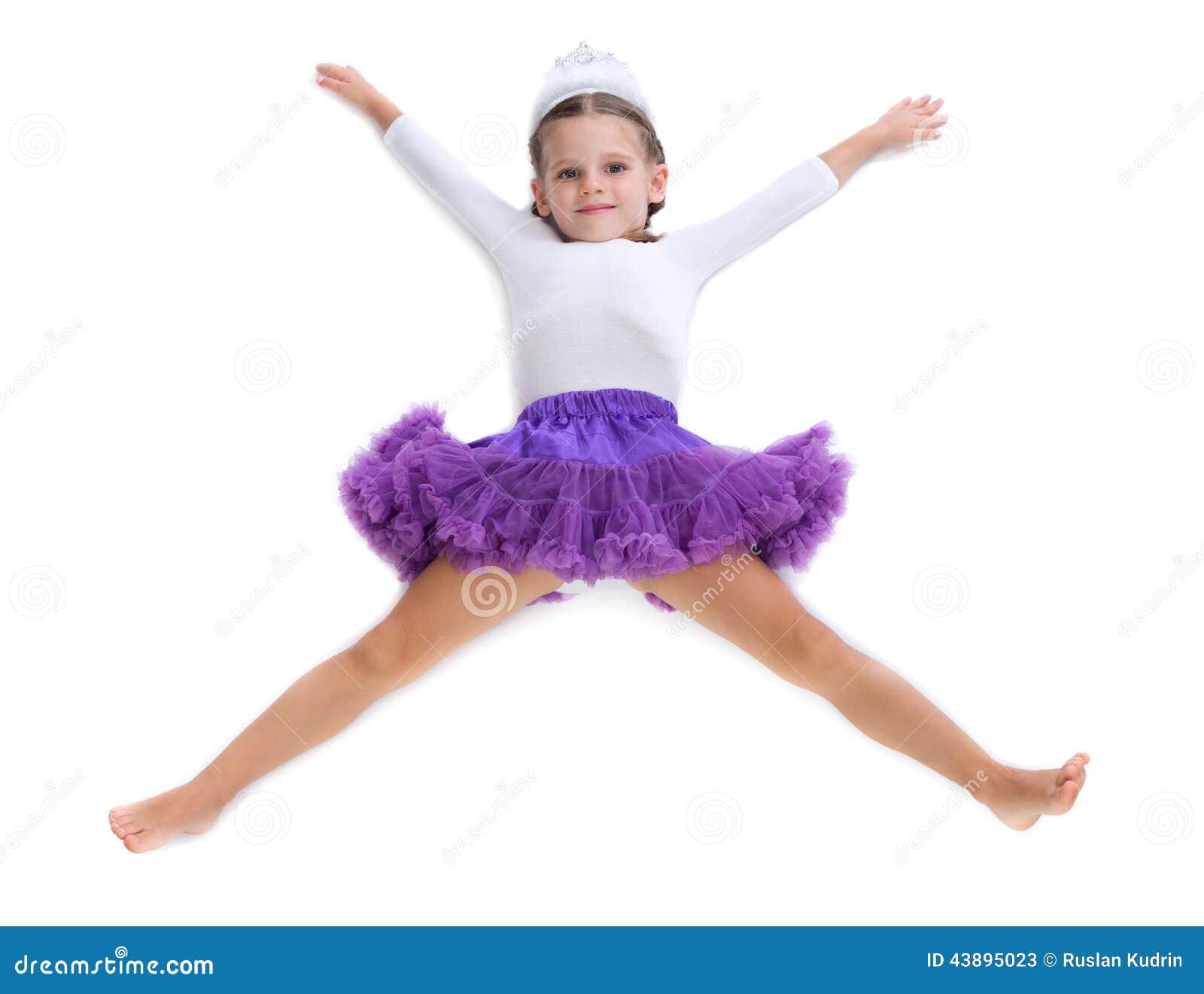 Little Girl Ballerina Stock Image Image Of Cheerful