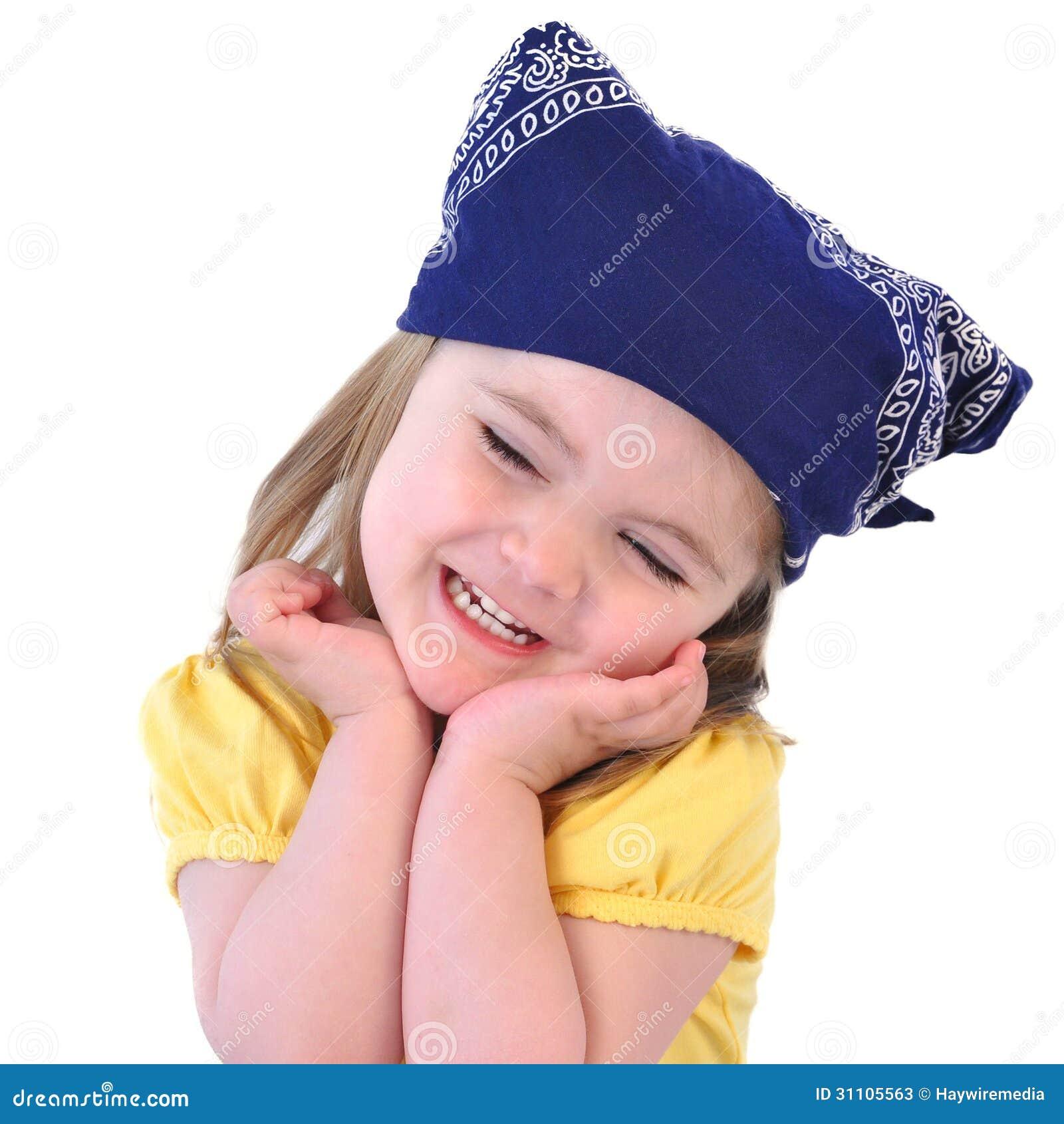 Бандана для ребёнка на голову своими руками