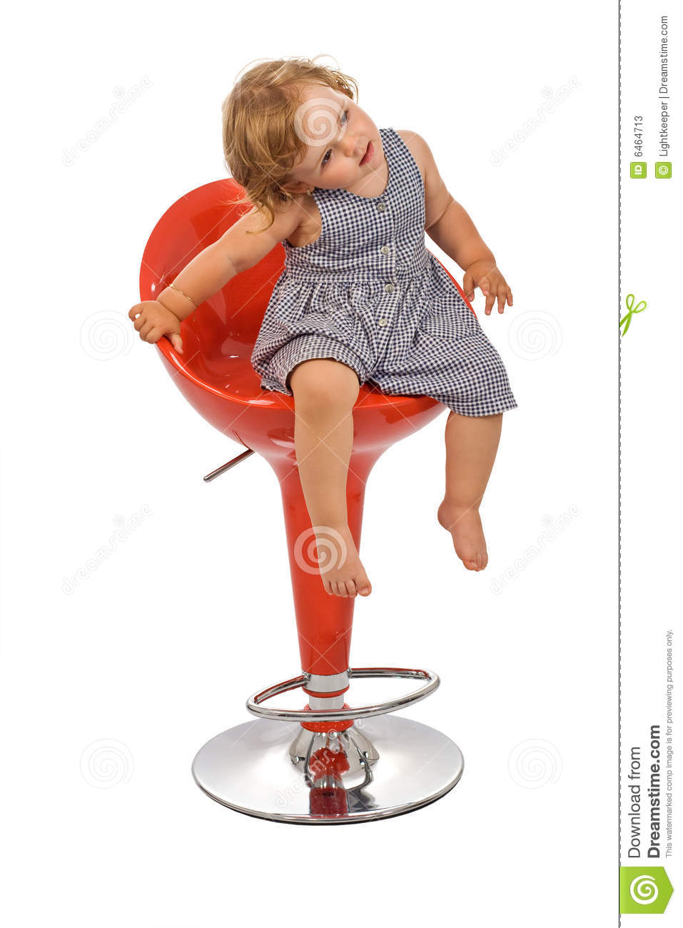Little Girl On Bar Stool Posing Isolated Stock Photos  : little girl bar stool posing isolated 6464713 from dreamstime.com size 957 x 1300 jpeg 102kB