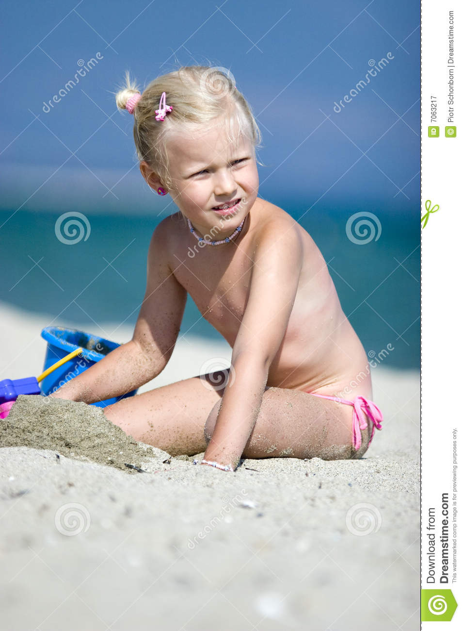 Little Girl On The Beach Royalty Free Stock Photography - Image ...
