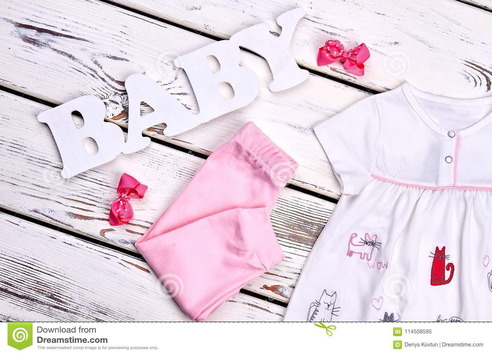 419eea348 Little Girl Beautiful Summer Apparel. Stock Image - Image of newborn ...