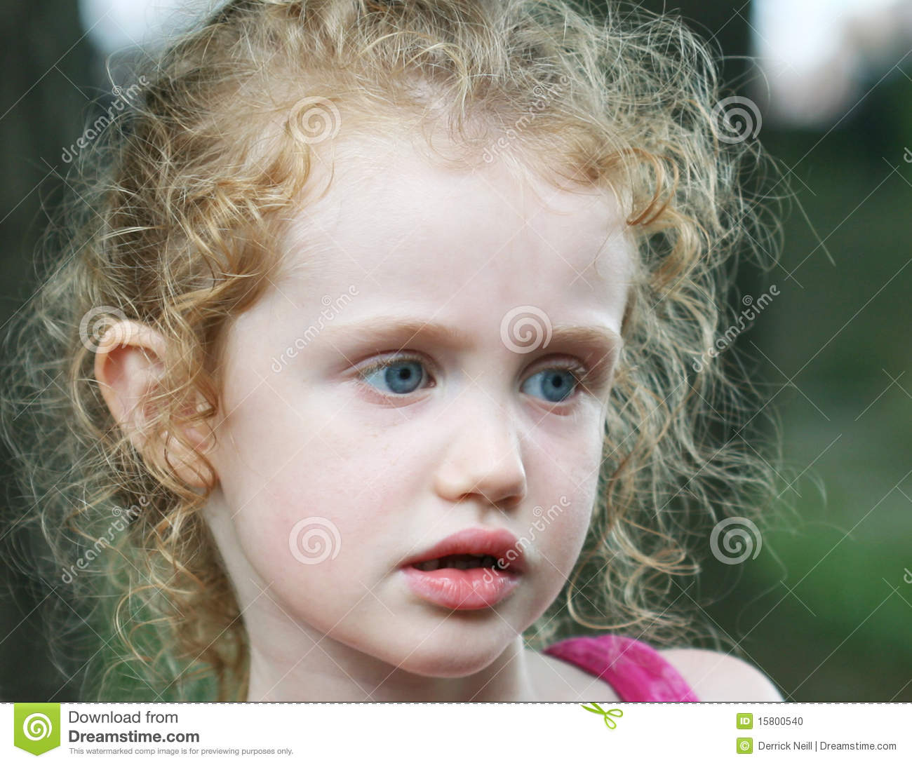 A Little Girl With Big Blue Eyes Stock Photo - Image: 15800540