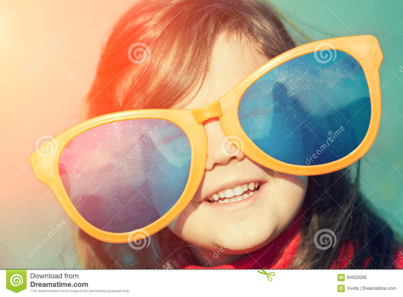 Little Girl With Big Sunglasses Stock Photo - Image of blue 7d9542dbd8