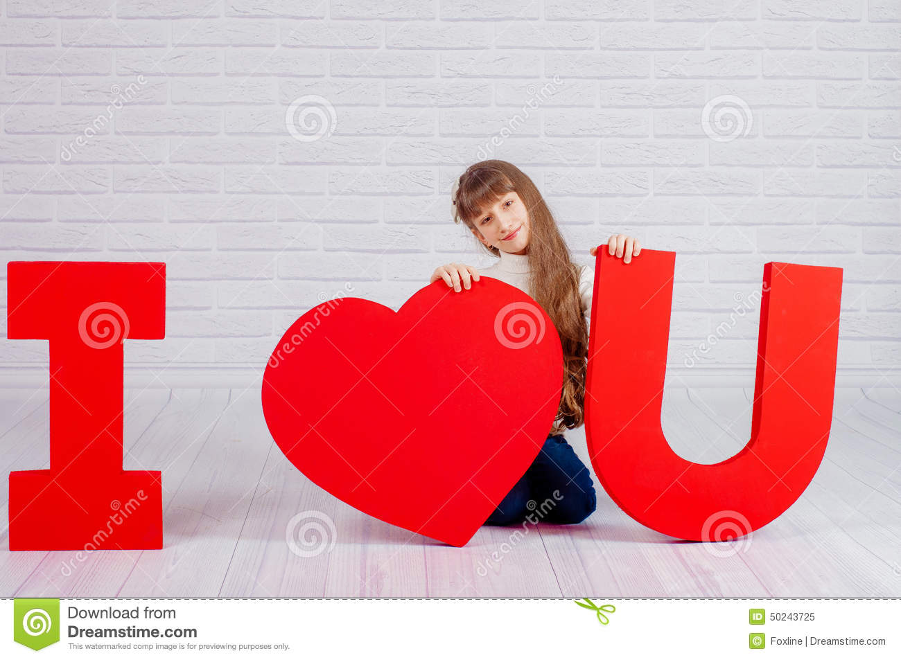 Little Girl With A Big Word I Love You