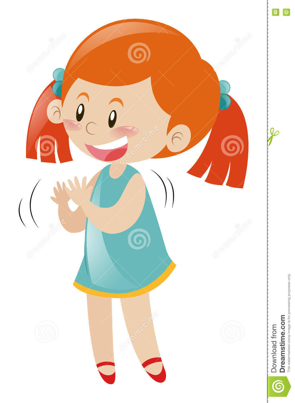 little girl in blue dress clapping hands stock vector illustration rh dreamstime com clip clip art images clip clip art