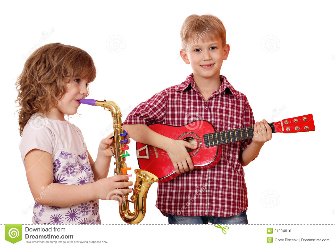 Sax pic giral and boy