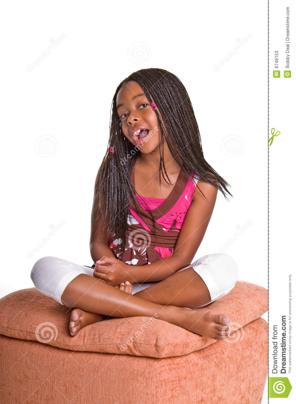 American girl with foot oriented habit 9