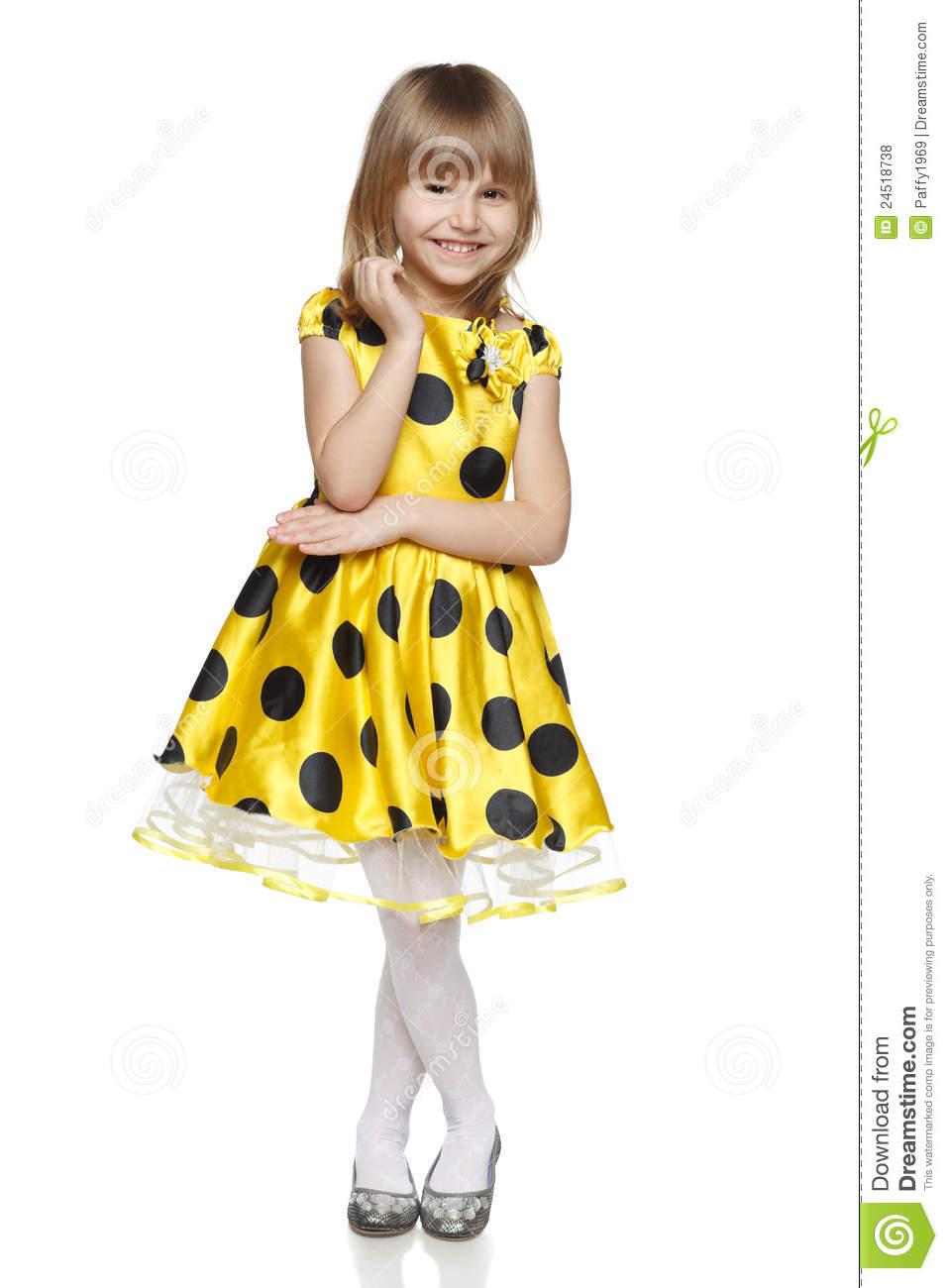 Little Girl In Bright Summer Dress Royalty Free Stock Photos - Image ...