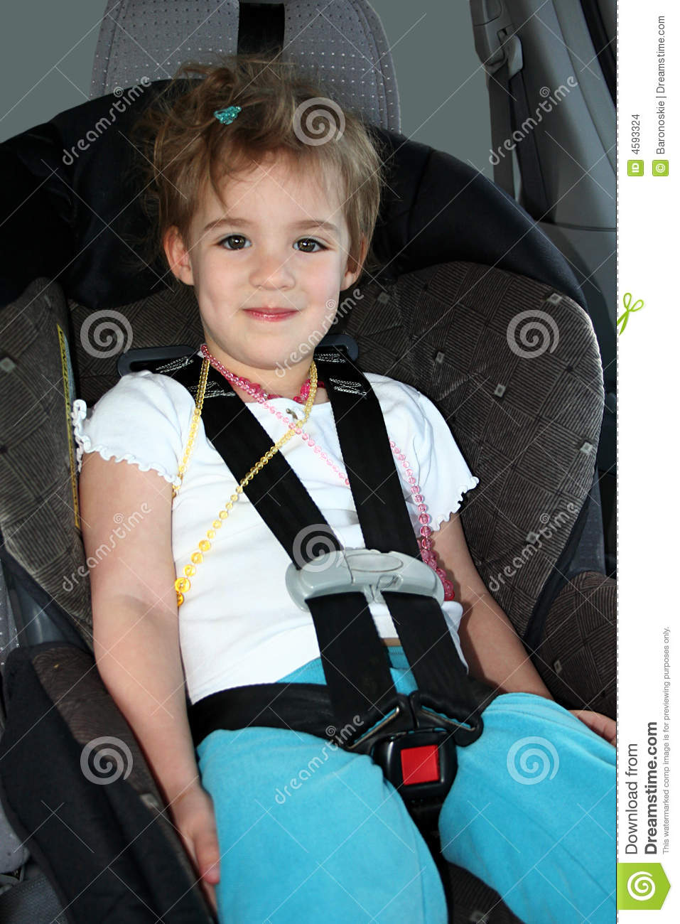 Little Girl In Car Seat Stock Photo Image Of Vehicle
