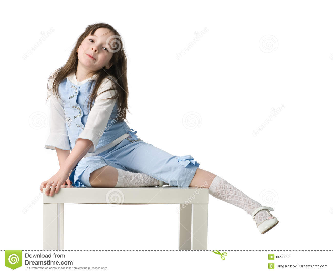 little girl on chair royalty free stock photo image 8690035. Black Bedroom Furniture Sets. Home Design Ideas