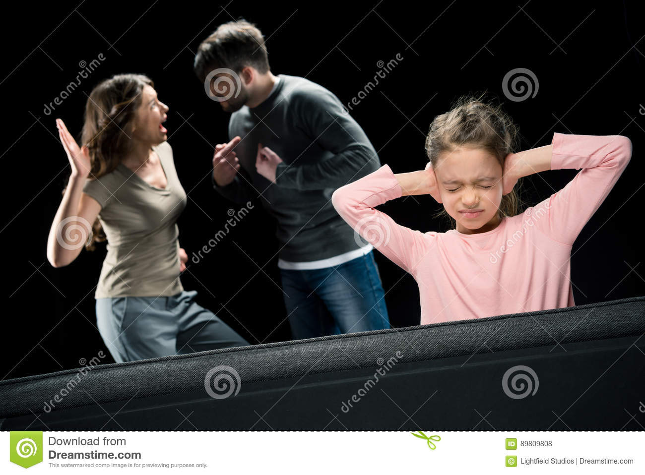Two Parents Quarreling At Home Royalty Free Stock Photo