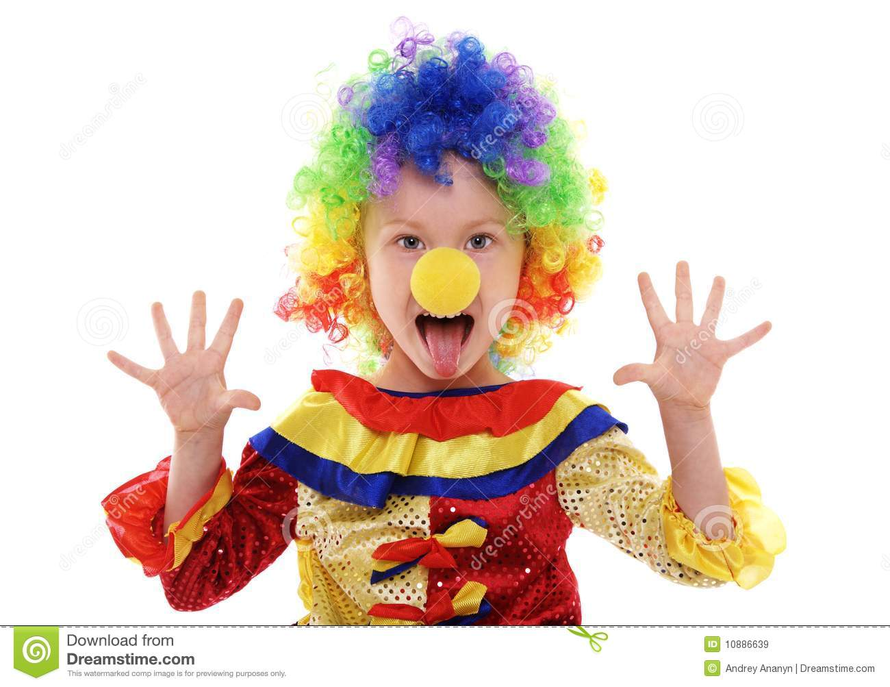 Little Girl Clown Costume