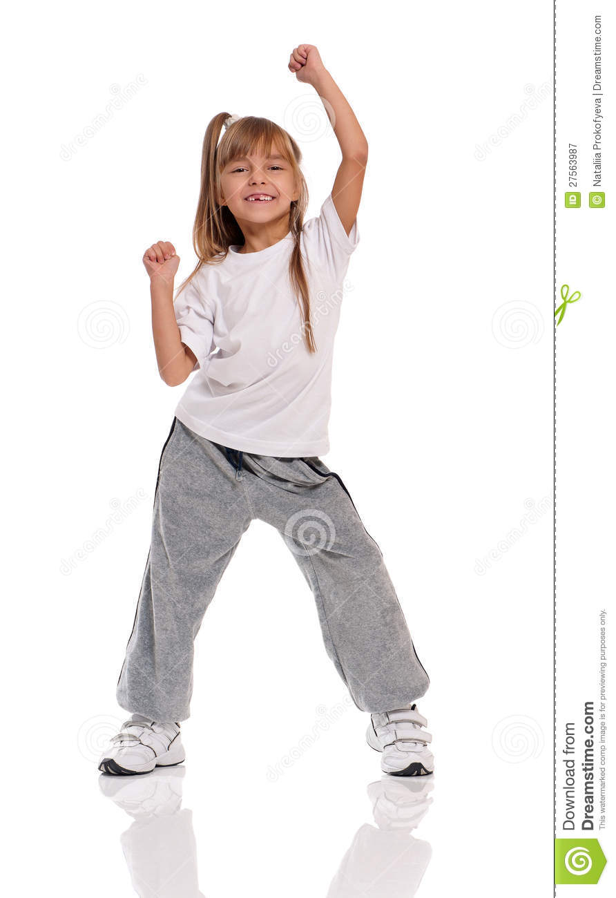 Little Girl Dancing Royalty Free Stock Photography - Image: 27563987