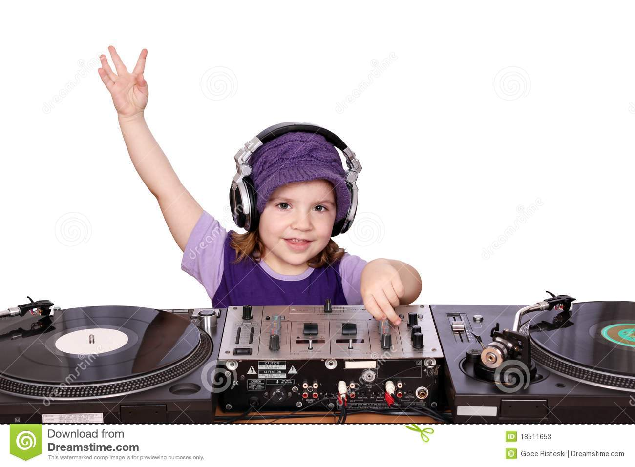 Little Girl Dj Stock Photos Image 18511653