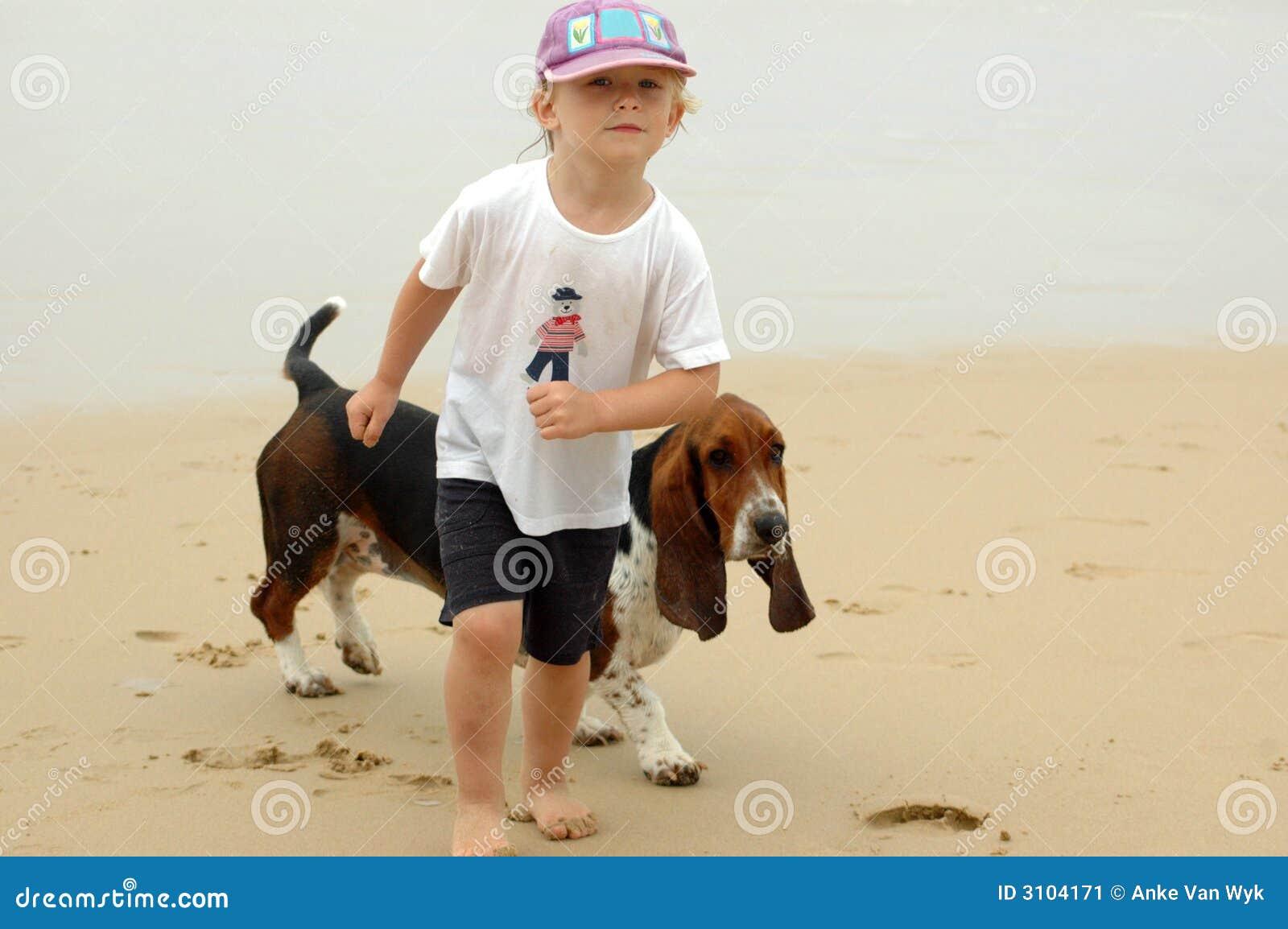 Happy Puppy Dog Walking