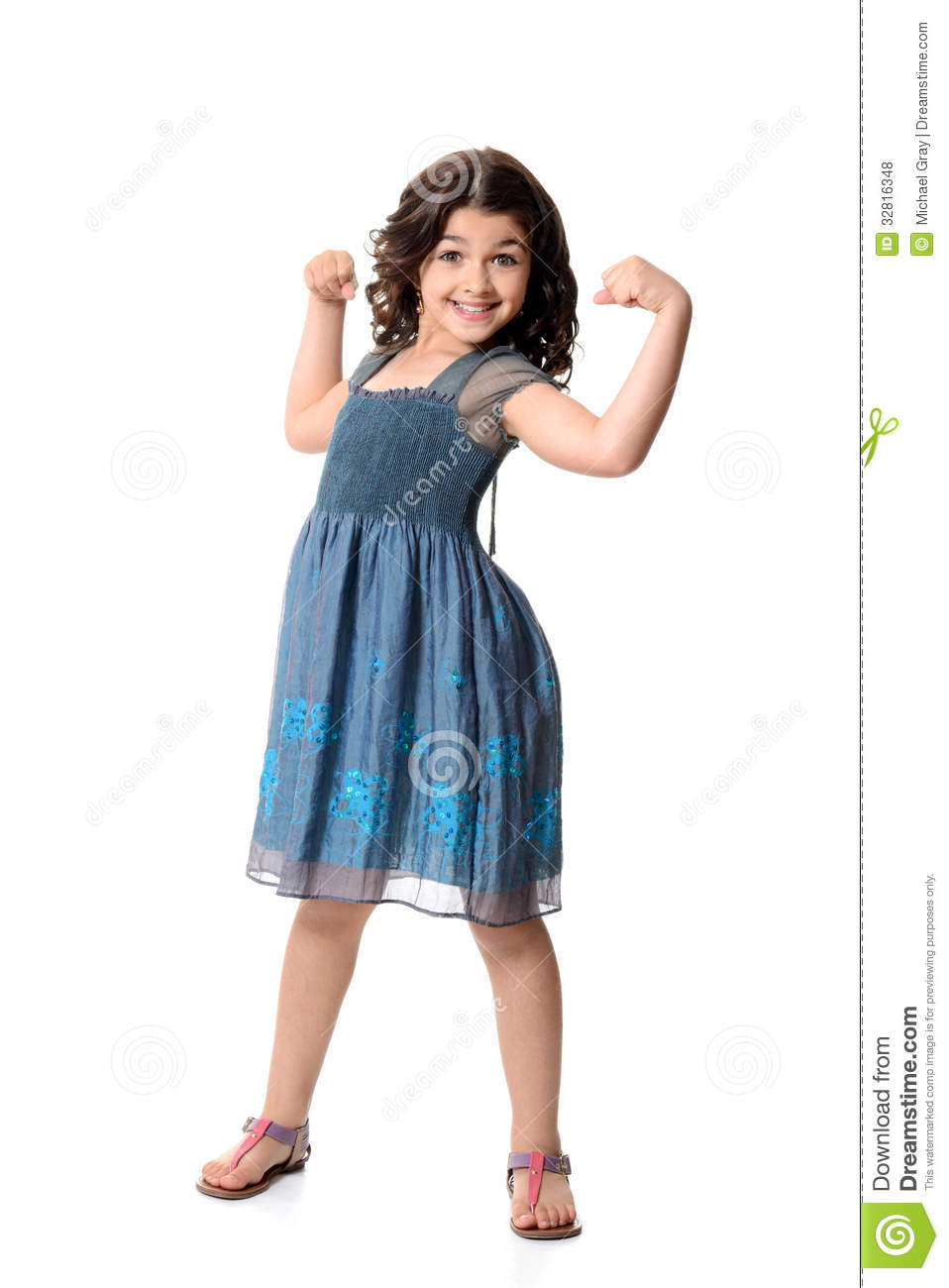 Little Girls With Muscles Little Girl Doing Muscle Pose
