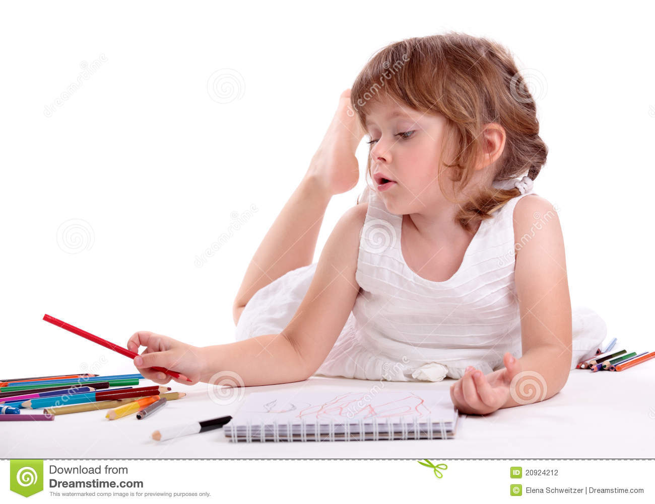Little Girl Drawing Stock Photography Image 20924212