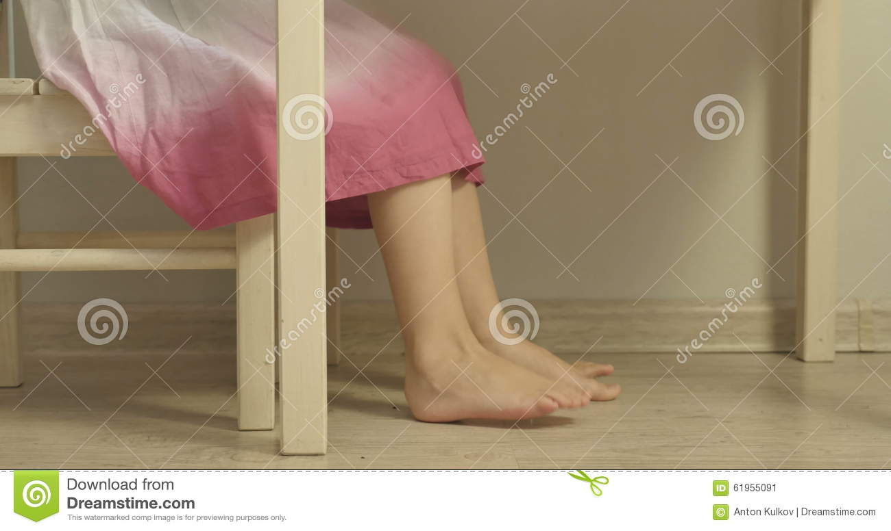 Little Girl In Dress Sitting At The Kids U0027 Table. Stock Video   Video:  61955091