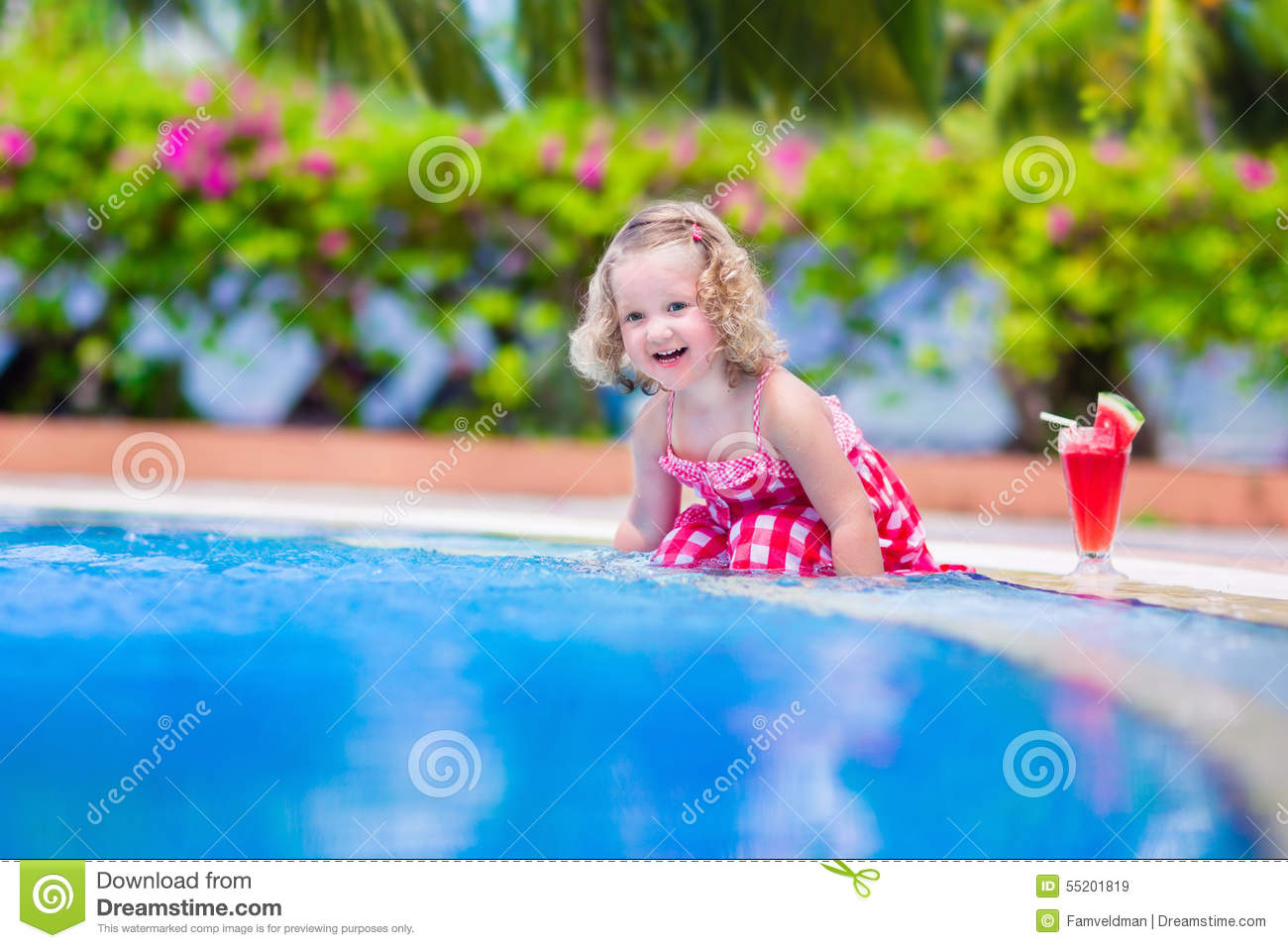 Little girl drinking juice at a swimming pool stock image image 55201819 How to make swimming pool water drinkable