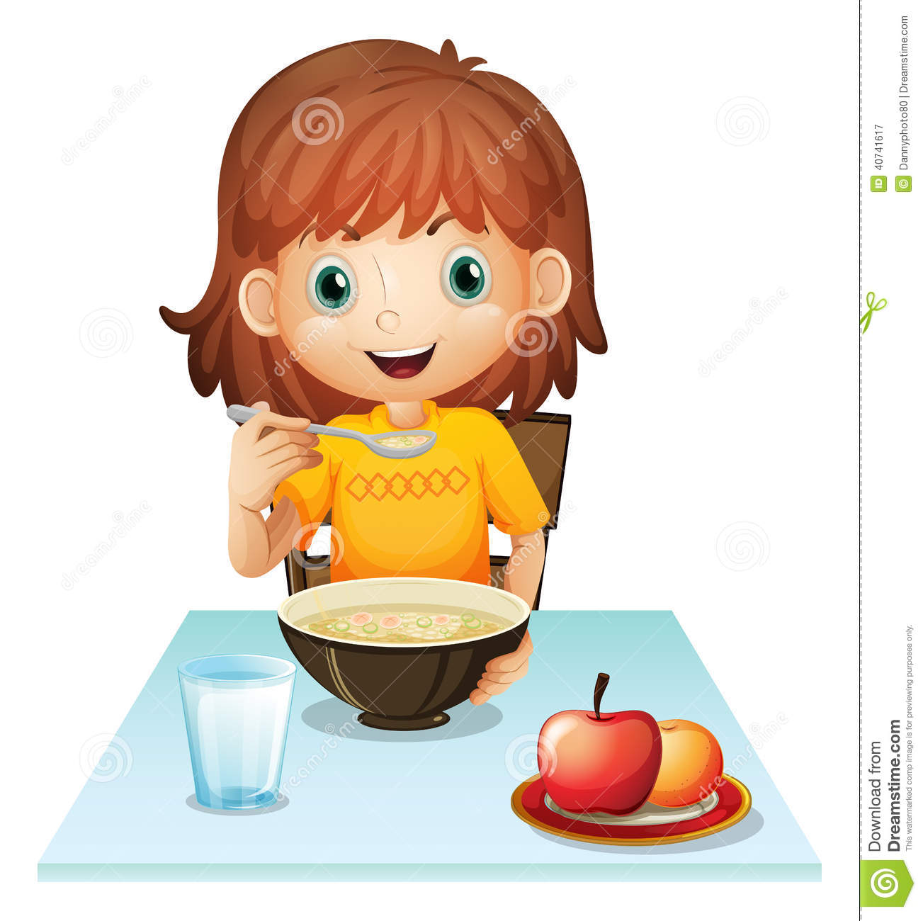 clipart girl eating breakfast - photo #29