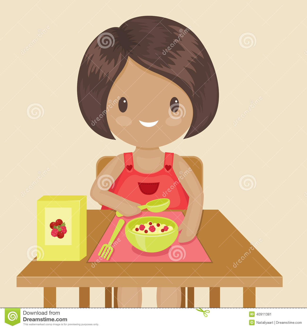clipart girl eating breakfast - photo #46