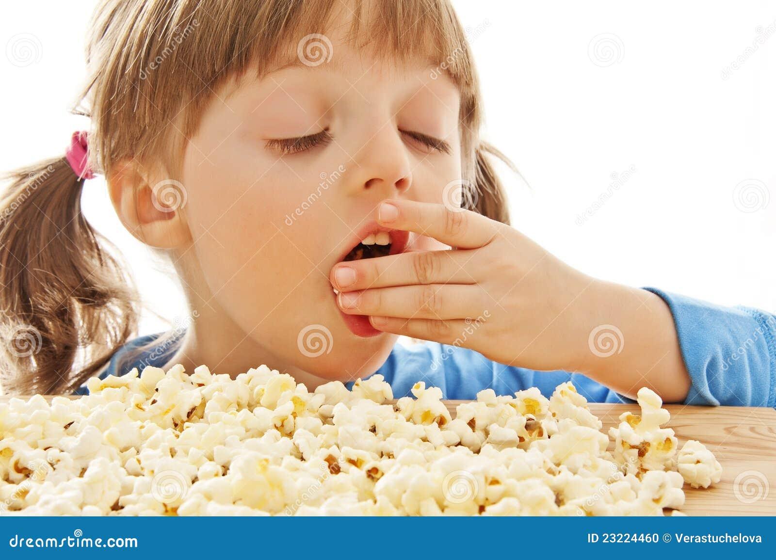Fat Kid Eating Popcorn