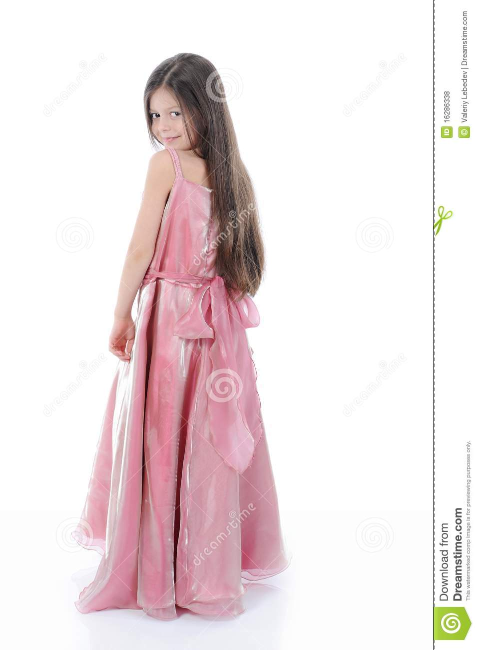 Little Girl In Evening Dress Royalty Free Stock Photos