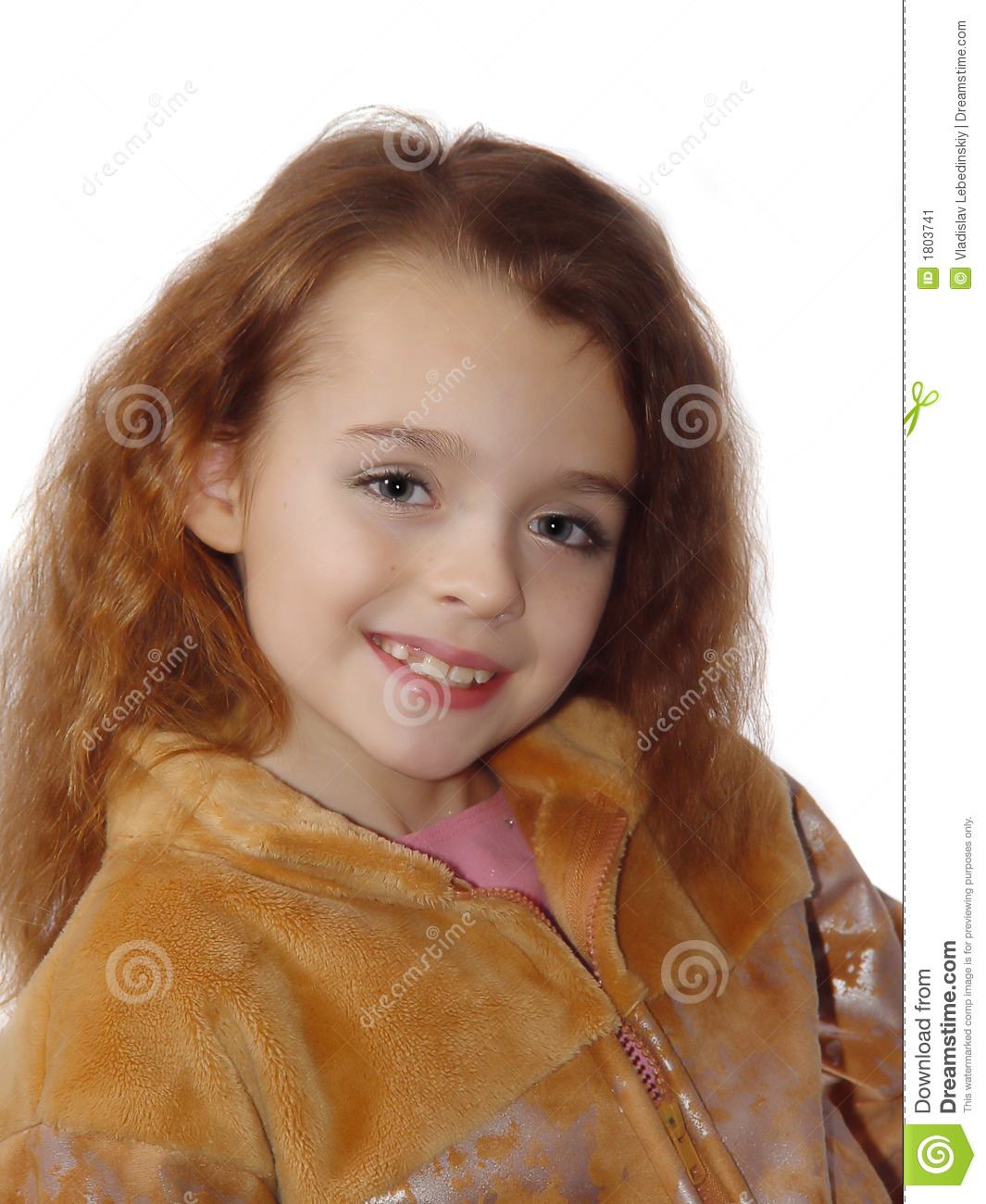 Little girl expressing photo model