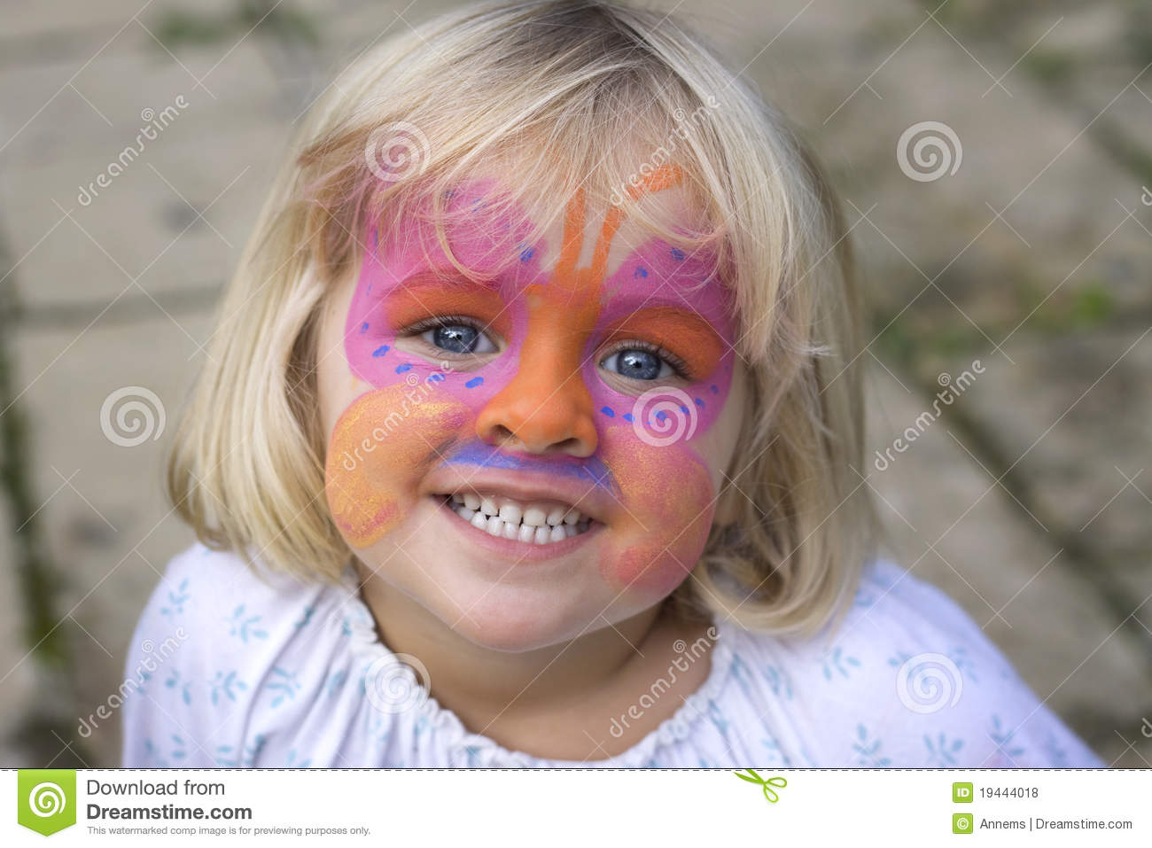 Little Girl With Face Paint Stock Photo Image Of Entertainment