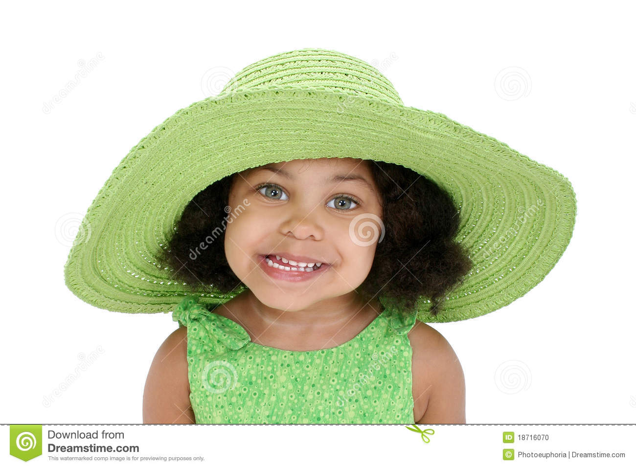 04953392efa Little girl in floppy hat stock photo. Image of black - 18716070