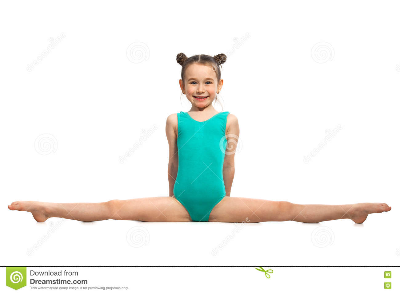 hot white girl doing the splits video